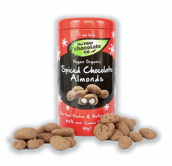 Bilde av Spiced Chocolate Almonds, økologisk 180g / The Raw Chocolate Com
