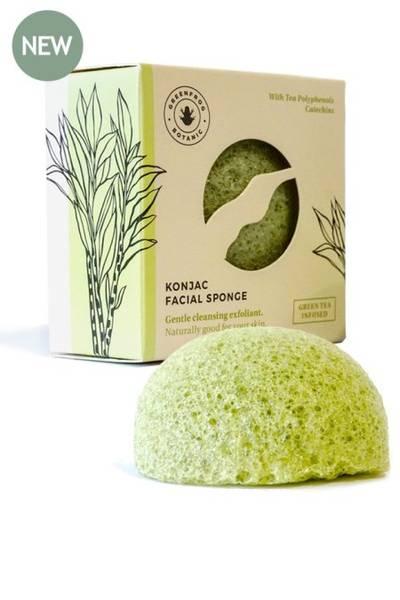 Bilde av Konjacsvamp til ansiktet, Green Tea / Green Frog
