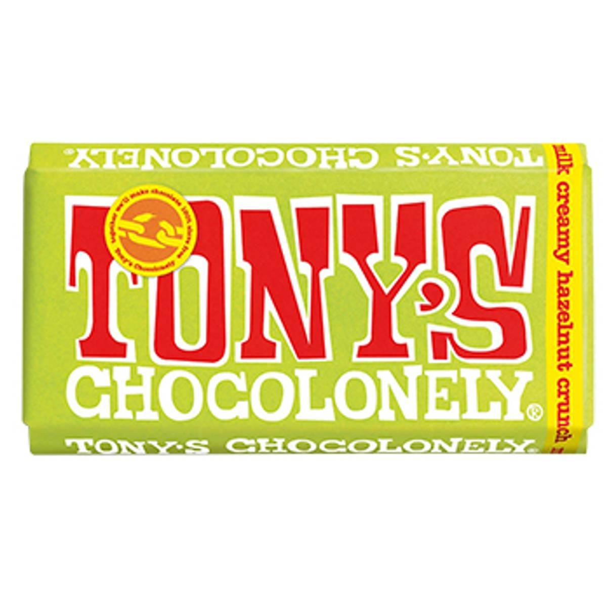 Creamy Hazelnut Crunch melkesjokolade 180g, Fair Trade / Tony´s