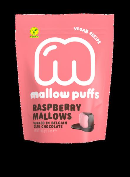 Bilde av Vegansk marshmallow, Bringebær 100g / Mallow Puffs