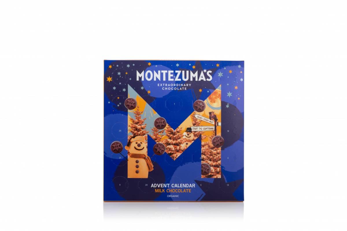Sjokoladekalender med melkesjokolade, 240g / Montezumas