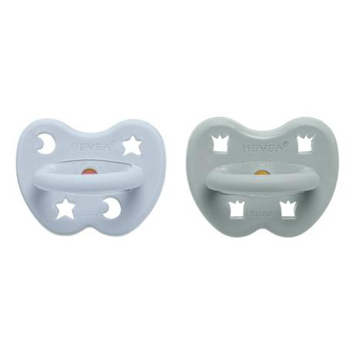 2-pk Ortodontisk smokk 3-36 mnd, Cottage Blue&Gorgeous / Hevea