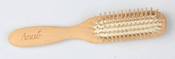 Bilde av Plastfri/vegansk hårbørste i bøketre, smal / Anaé