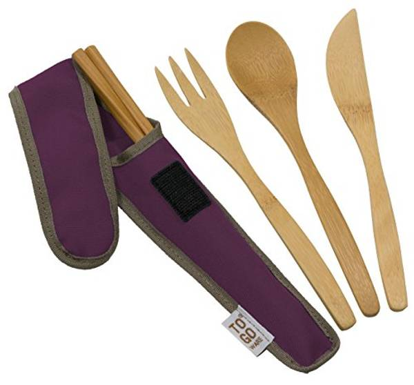 Bilde av Reisebestikk i bambus, Mulberry / To-Go Ware
