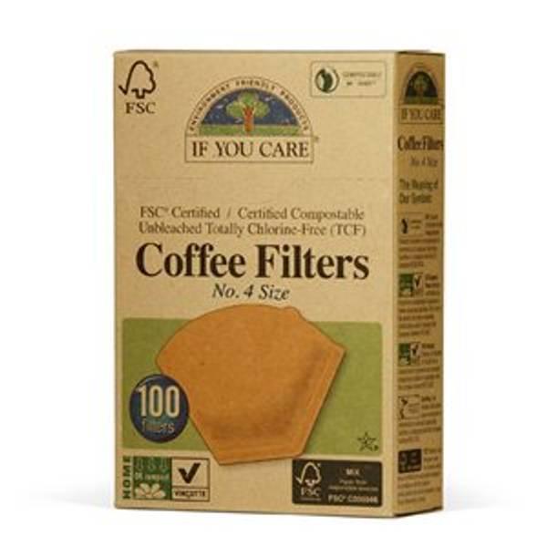 Bilde av Kaffefilter nr. 4 ubleket 100 stk / If You Care