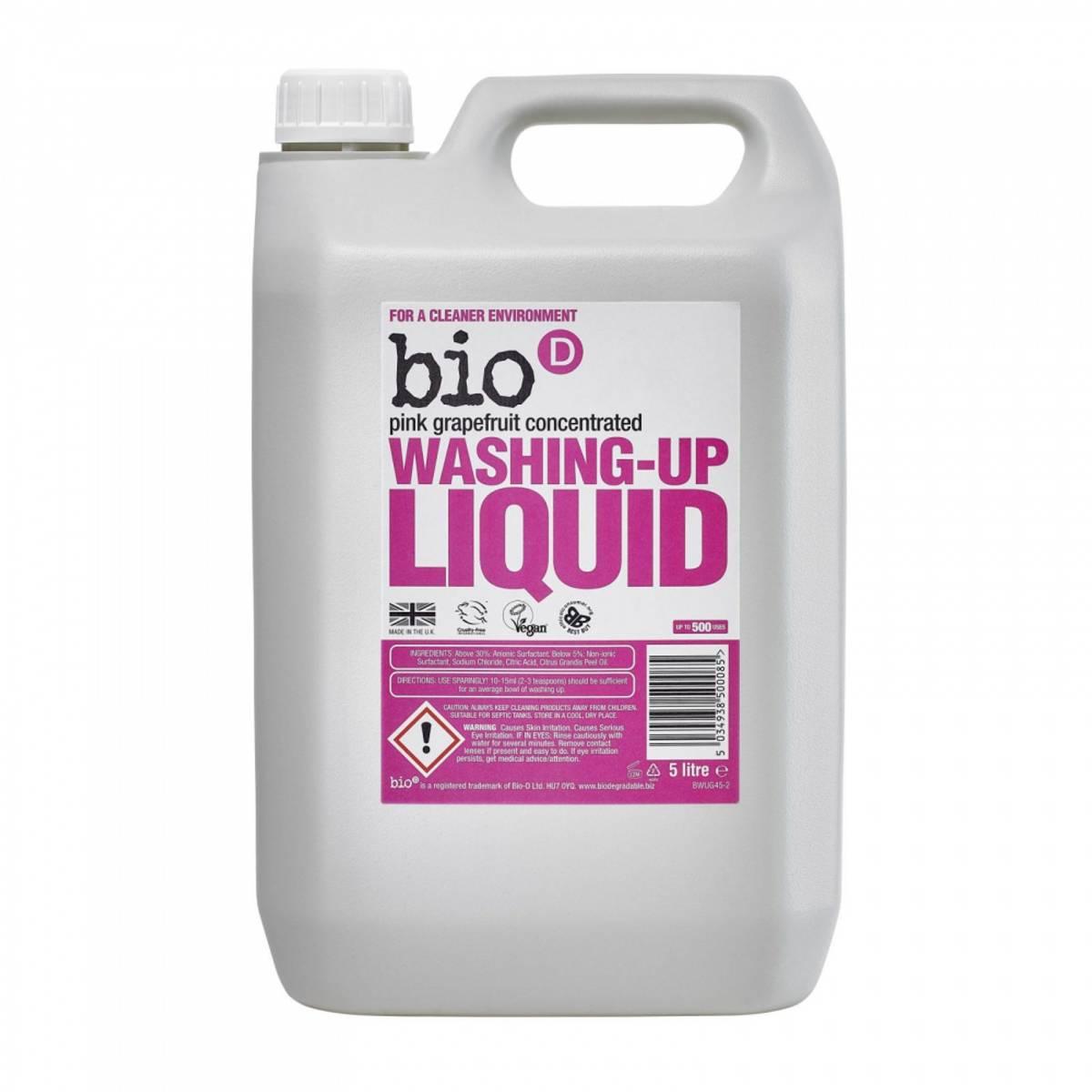 5L oppvasksåpe Pink Grapefruit / Bio-D