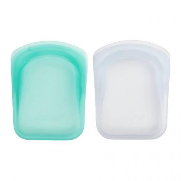 Bilde av 2-pk Stasher Pocket Size, Clear & Aqua / Stasher Bags