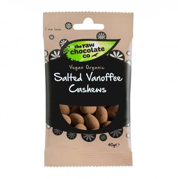 Bilde av Salted Vanoffee Cashews, cashewnøtter med sjokolade 40g / The Ra