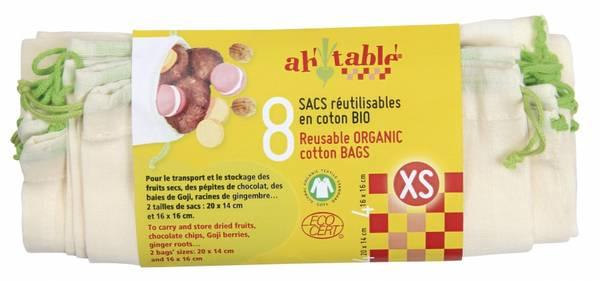 Bilde av 8-pk økologiske gasposer str. XS / Ahtablé