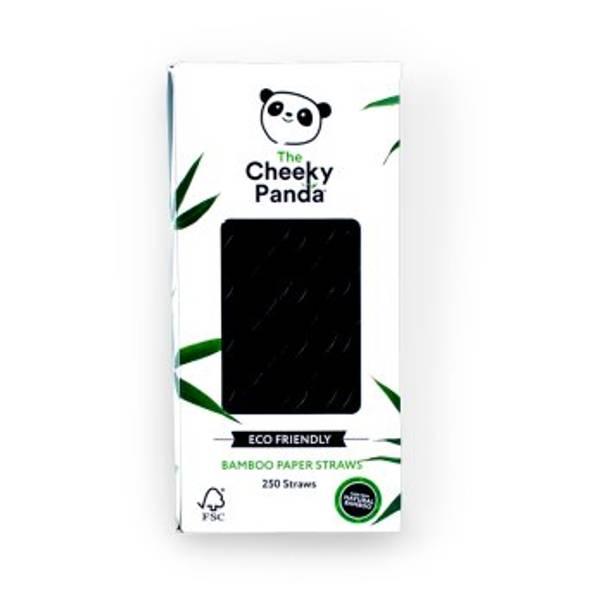Bilde av 250 stk engangssugerør i bambus, sort / The Cheeky Panda